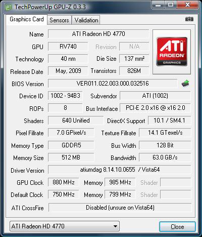 Overclocking the ATI Radeon HD 4770