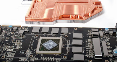 EK Waterblock on the Radeon HD 5870
