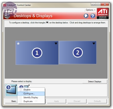 How To Fix Underscan in ATI's Catalyst Control Center Fixing Underscan in Catalyst Control Center