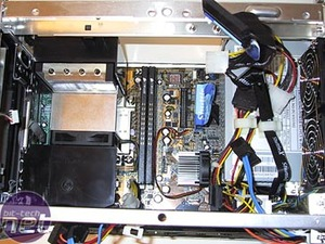 Shuttle SN25P Inside the chassis