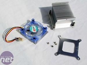 AOpen i915GMm-HFS Heatsink, BIOS & Overclocking