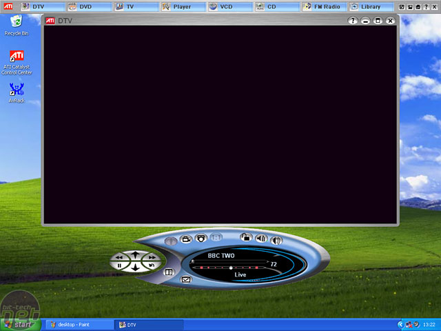 ATI All-In-Wonder X800GT The Software Interface