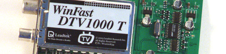 Leadtek WinFast DTV1000 T Introduction