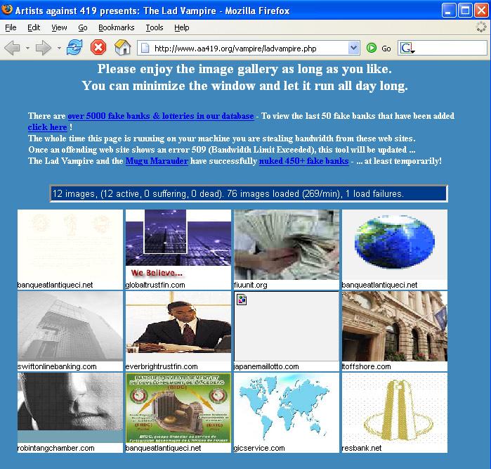Artists Against 419 | bit-tech net