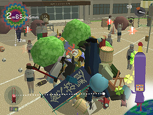 Roll your Katamari around the level