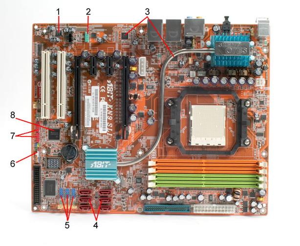 Abit KN9 SLI Board Layout