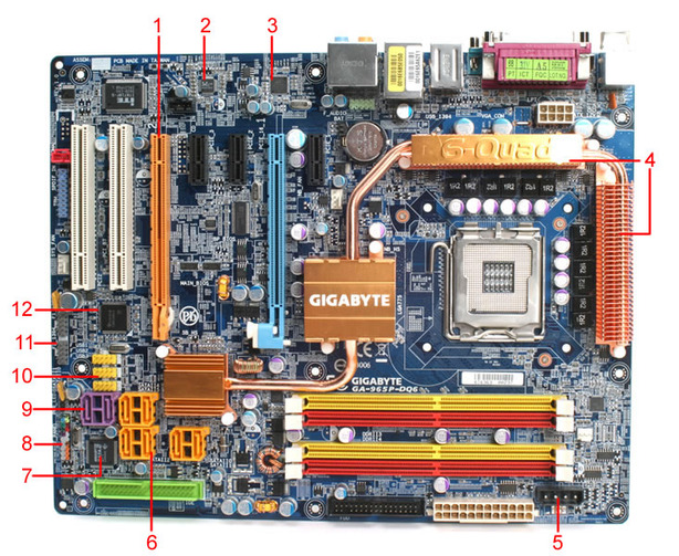 Gigabyte GA-965P-DQ6 Board Layout