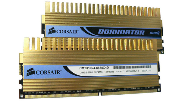Corsair gold-plated DOMINATOR XMS DDR2 - win!