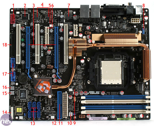 Asus Crosshair Board Layout