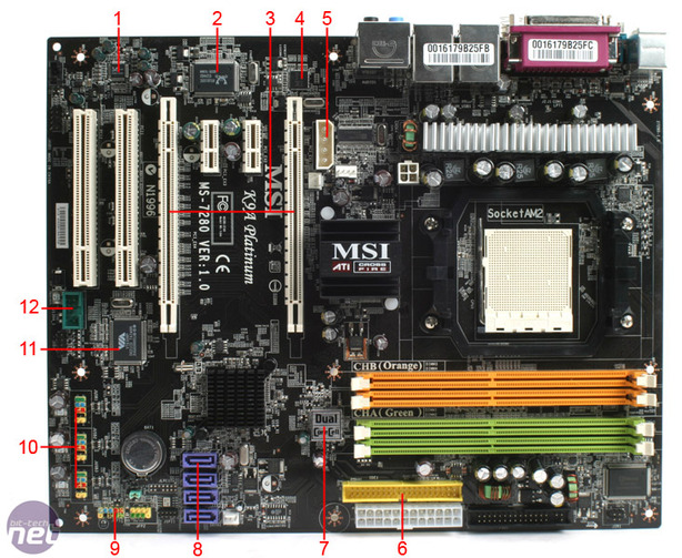 MSI K9A Platinum Board Layout