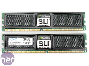 OCZ DDR2 memory group test OCZ DDR2 PC2-6400 SLI-Ready Edition