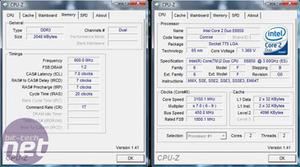 Corsair and SuperTalent DDR3 Test Setup