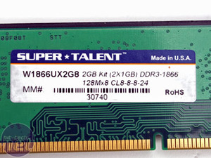 Corsair and SuperTalent DDR3 Super Talent  W1866UX2G8
