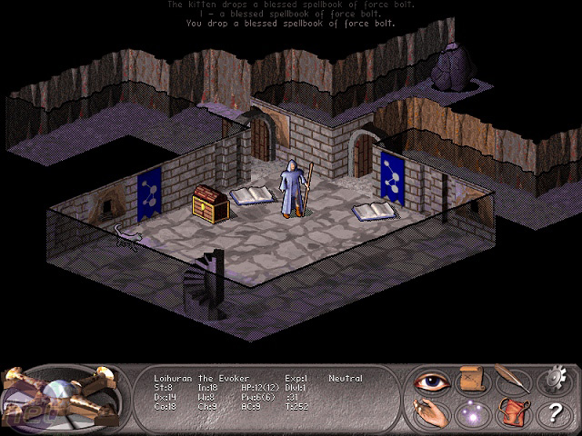 Nethack has various mods to improve the graphics, such as this one