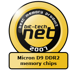 The bit-tech Hardware Awards 2007 Best Memory & Cooling Product