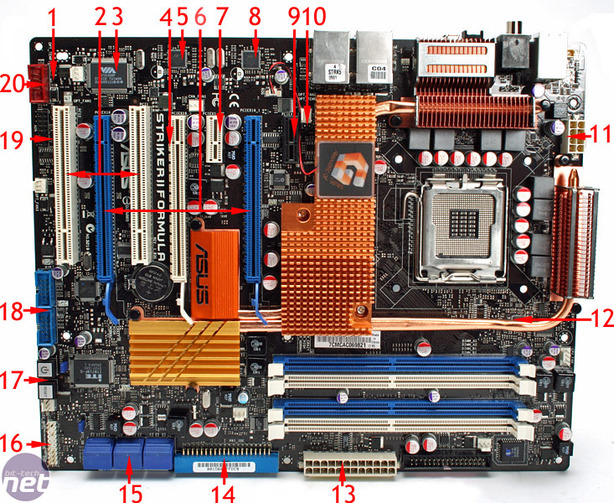 Asus Striker II Formula Board Layout