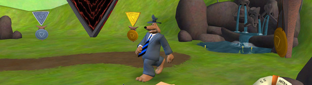 Sam and Max: Moai Better Blues Thinking with portals