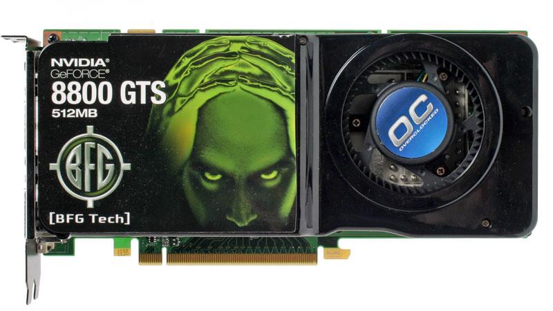 BFG Tech GeForce 8800 GTS OC 512MB Card Design