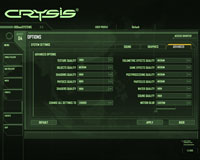 Windows Vista SP1 Gaming Performance Crysis