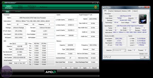 AMD Phenom X3 8750 Overclocking the Phenom X3 8750