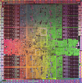 Nvidia's GT200 GPU die shot - Click to enlarge