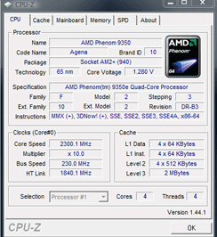 AMD Phenom X4 9350e - 65W quad-core Overclocking/Underclocking the Phenom X4 9350e