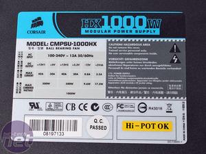 Corsair HX1000W PSU Corsair Hits New Power Heights
