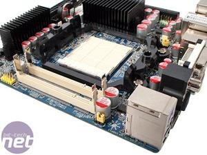 J&W MINIX 780G mini-ITX HTPC mobo Board Layout