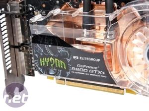 ECS Hydra Watercooled 9800 GTX+ SLI pack Watercooling and custom coolers