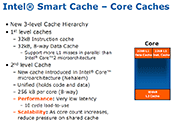 Intel Core i7 - Nehalem Architecture Dive New Cache Structure and HyperThreading