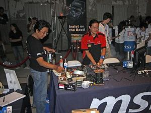 MSI's Master Overclocking Arena 2008 Getting Ready