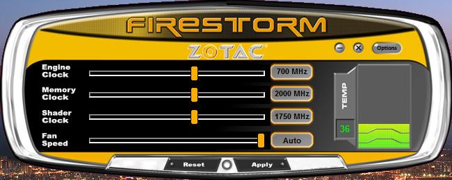 Zotac Nitro OC Controller Zotac Nitro OC Controller - Software