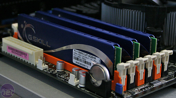 G.Skill F3-12800CL8T-6GBHK Tri-Channel DDR3 Test Setup