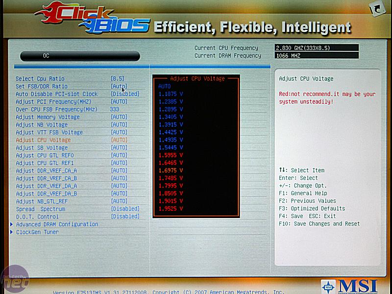 MSI Click BIOS - Evaluating UEFI | bit-tech net