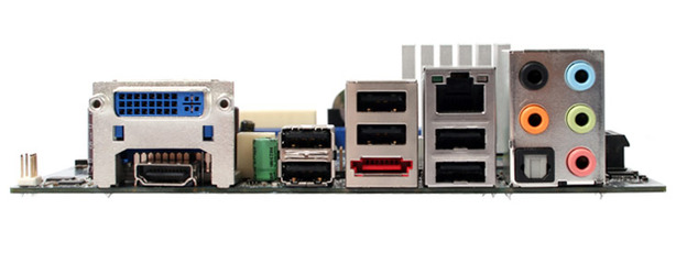 Intel DG45FC mini-ITX motherboard Rear I/O and BIOS