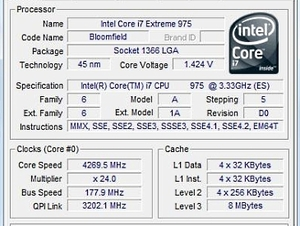 Intel Core i7-975 Extreme Edition Review Overclocking and WPrime