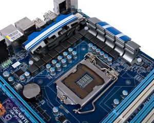 *Gigabyte GA-P55M-UD4 Review Board Layout and Detail