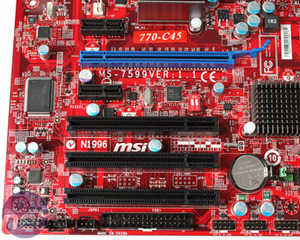*MSI 770-C45 Motherboard Review Board Layout and Rear I/O