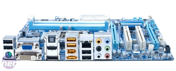 *Gigabyte GA-H55M-UD2H Review Board Layout and Rear I/O