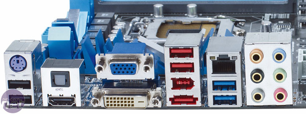 Asus P7H57D-V Evo Motherboard Review Board Layout and Rear I/O