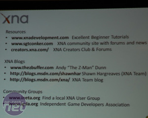 Microsoft's future of gaming: XNA and touch XNA examples and development