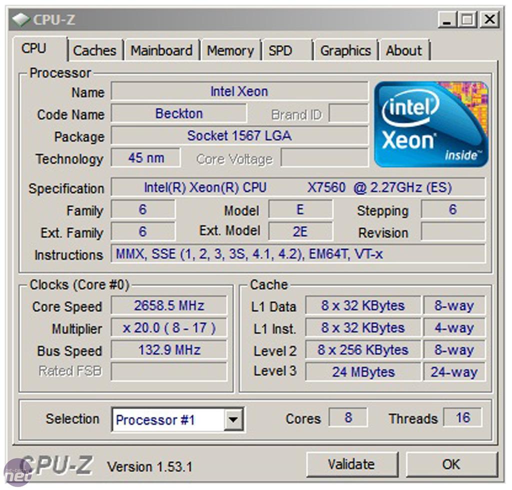 Up Close Intel Xeon X7500