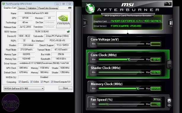 Overclocking Nvidia's GeForce GTX 460 GeForce GTX 460 1GB Overclocking