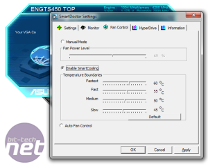 *Asus GeForce GTS 450 TOP Overclocking Asus Smart Doctor, Overclocking Software