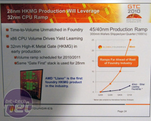 Global Foundries GTC 2010 32nm for AMD; then next stop, 28nm!