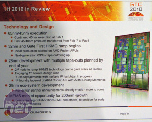 *Global Foundries GTC 2010 Manufacturing techniques: will they pay off?