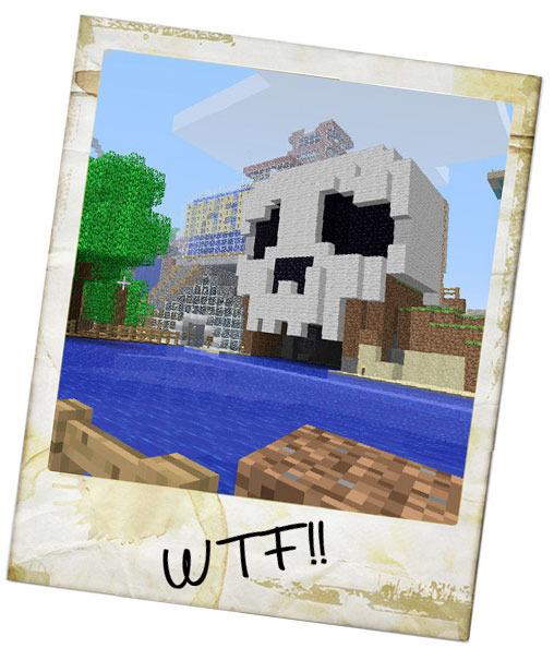 Skull Cave Minecraft Pinterest