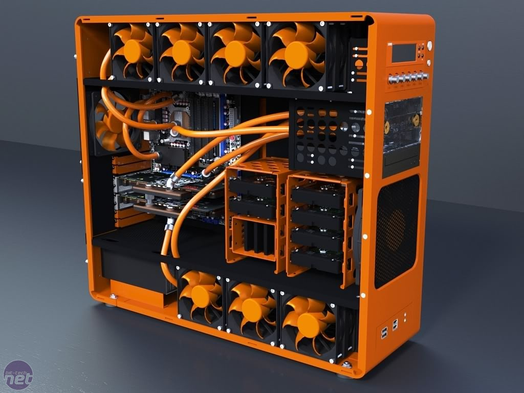 #BC4E0D Computers On Pinterest Pc Cases Shooter Games And  Recommended 7167 Water Cooled Tower pics with 1024x768 px on helpvideos.info - Air Conditioners, Air Coolers and more