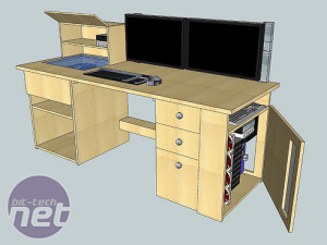 Mod of the Month June 2011 The Ultimate Computer Desk by ultimatedesk