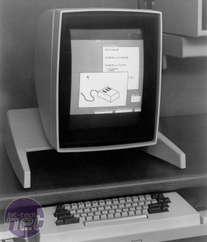 The Xerox Alto had a GUI-based interface, despite being built in 1973